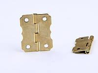 Петля завис  24х20 мм цвет золото, фото 1