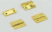 Петля завис 20х15 мм фиксатор цвет золото