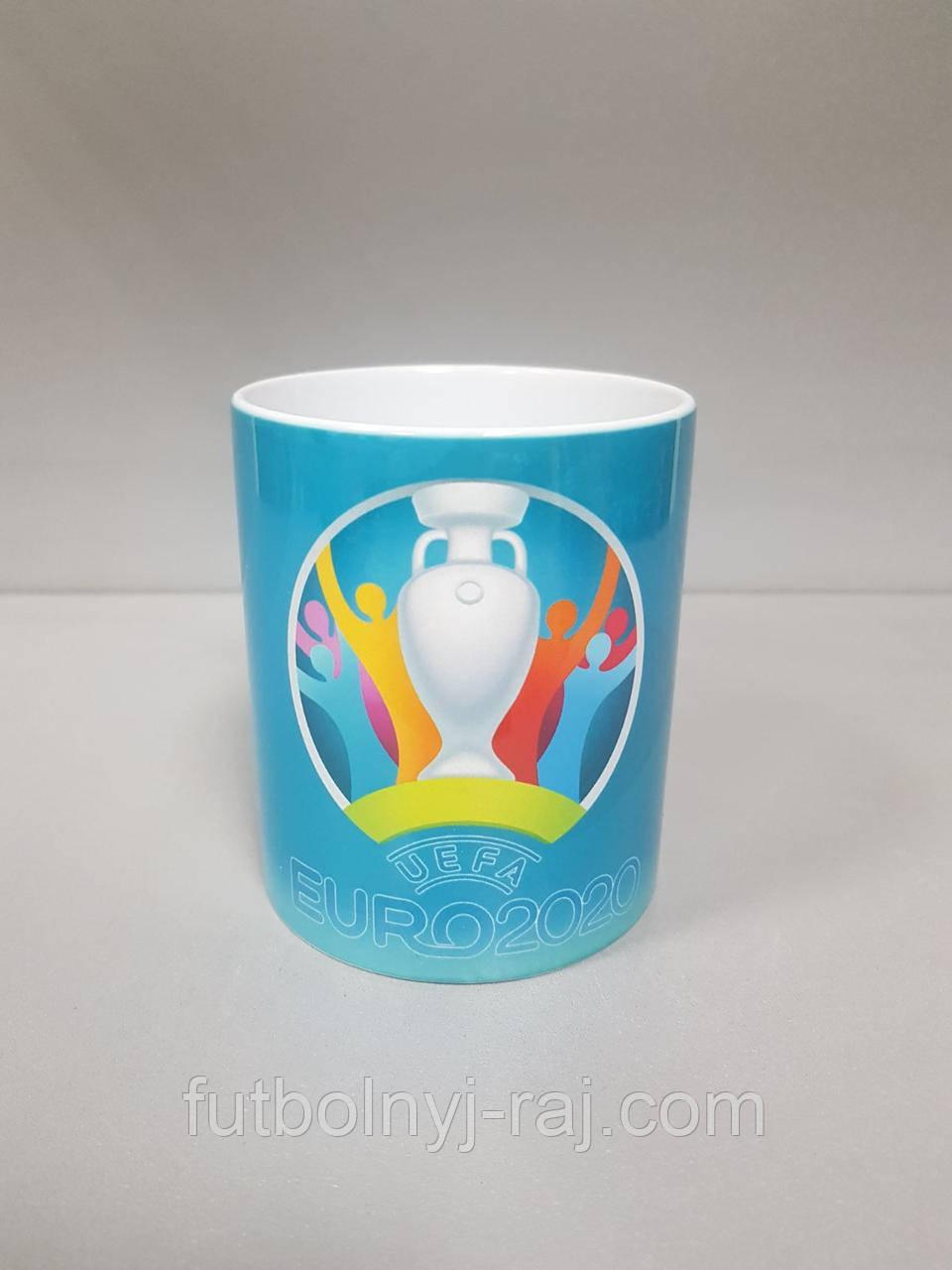 Чашка чайная футбольная с изображением символики Euro2020