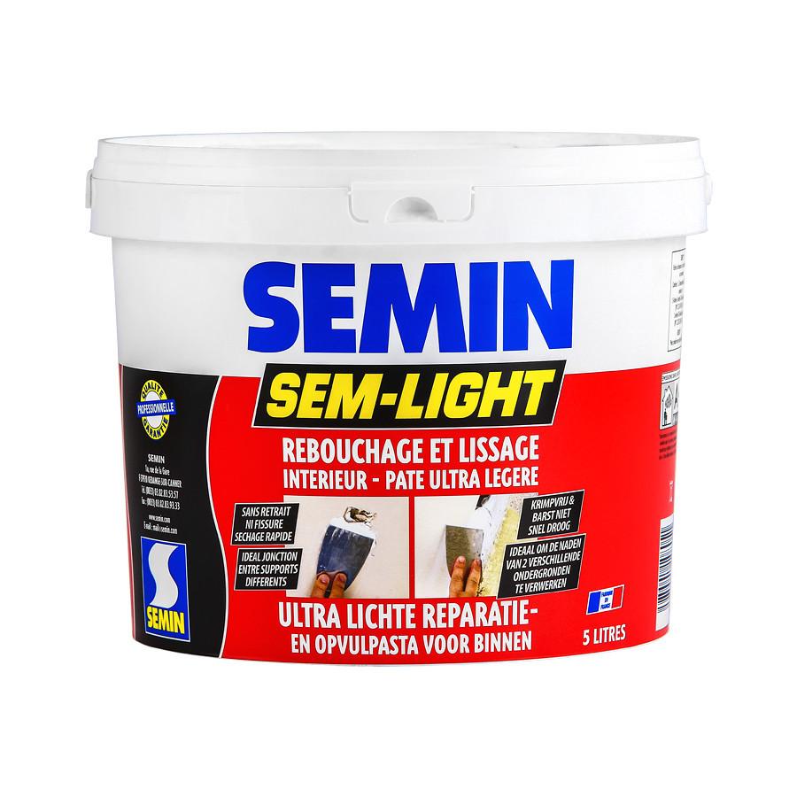 SEM LIGHT - Сверхлегкая безусадочная шпаклевка Semin