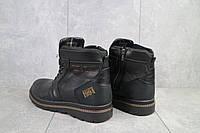 Мужские зимние ботинки на меху в стиле Belvas, шерсть, натуральная кожа, черные *** 40 (26,5 см)
