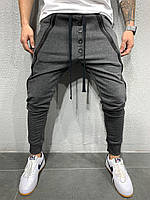 Мужские спортивные штаны утепленные 2Y Premium P6120 antracit