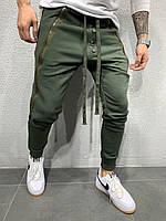 Мужские спортивные штаны утепленные 2Y Premium P6120 khaki