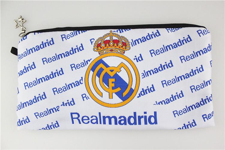 Школьный пенал на молнии FC Real Madrid белый
