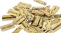 Петля завис врезная 30х17 мм  цвет золото