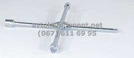 Ключ крест усиленный, с центр. пластиной, хром 17X19X21X1/2 мм.  (арт. arm-1/2), AAHZX