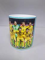 Чашка чайная футбольная с изображением Сборной Украины Euro2020.