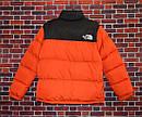 Женский пуховик Supreme x The North Face Nuptse 700 Orange, фото 2