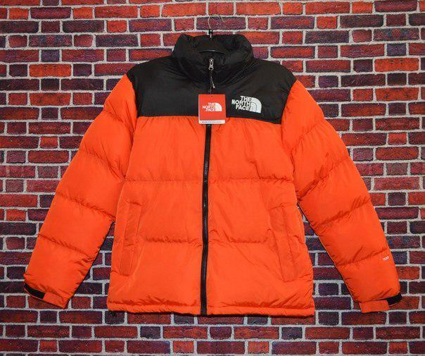 Женский пуховик Supreme x The North Face Nuptse 700 Orange