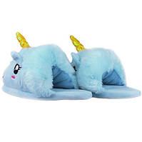 Тапочки Единорог голубые, фото 1
