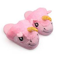 Тапочки Единорог розовые, фото 1