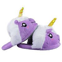 Тапочки Единорог фиолетовые, фото 1