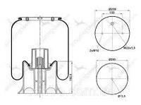Пневморессора без стакана 4158np02  SAF,SCHMITZ