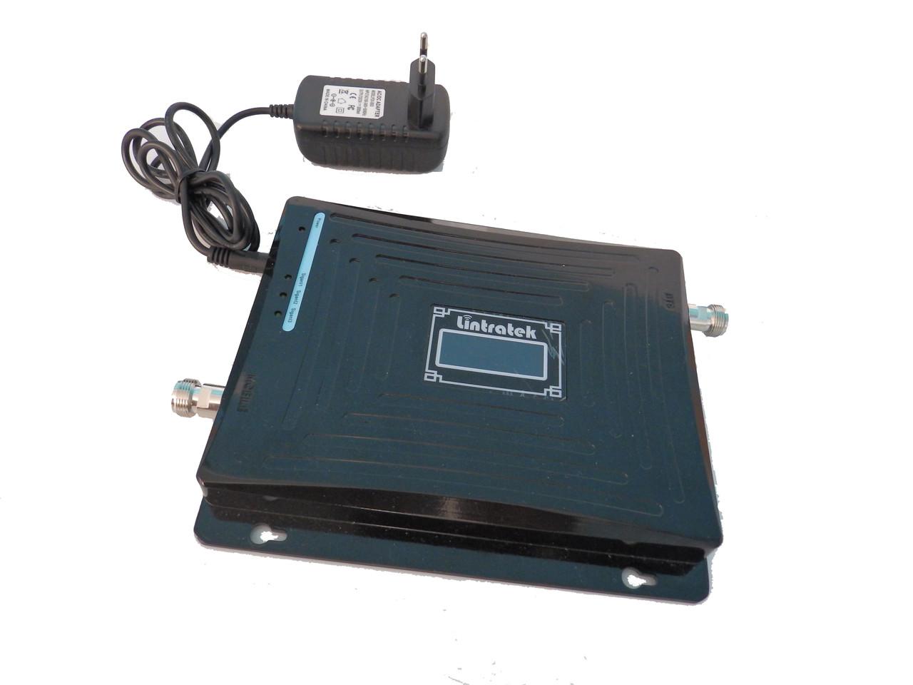 Усилитель 2G\3G\4G репитер, GSM 900 + 3G 2100 + 4G 1800 mhz  Lintratek KW19L-GDW - Оригинал 100%