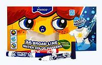 Фломастеры MARCO 36цветов №1632-36 толстый, в картонной упаковке