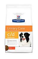 Hill's Prescription Diet c/d Multicare Urinary Care 5кг -Сухой корм для собак с курицей
