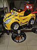 Перукарське дитяче Крісло-Машинка для стрижки дітей (жовта блакитна салатовий), фото 2