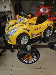 Парикмахерское детское Кресло-Машина  для стрижки детей (жёлтая голубая салатовая)