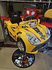 Перукарське дитяче Крісло-Машинка для стрижки дітей (жовта блакитна салатовий), фото 3
