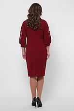 Бордовое нарядное платье больших размеров Сандра, фото 3