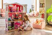 Кукольный домик.Дом для кукол барби.Кукольный домик для барби Malibu + лифт+кукла в подарок