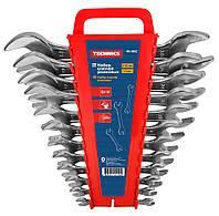 Набор ключей рожковых двухсторонних, Cr-V, 6шт Technics 48-900 | Набір ключів ріжкових двосторонніх, Cr-V,
