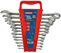 Набор ключей рожково-накидных, Cr-V,12 шт Technics 48-922 | Набір ключів ріжково-накидних, Cr-V,12шт Technics