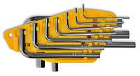 Набір ключів имбусовых, Cr-V, 10шт Technics 49-110 | Набір ключів імбусових, Cr-V, 10шт Technics 49-110