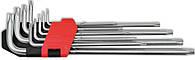 Набір ключів TORX подовжених, Cr-V, 9 шт (Т10-Т50) Technics 49-141 | Набір ключів TORX подовжених, Cr-V, 9шт.