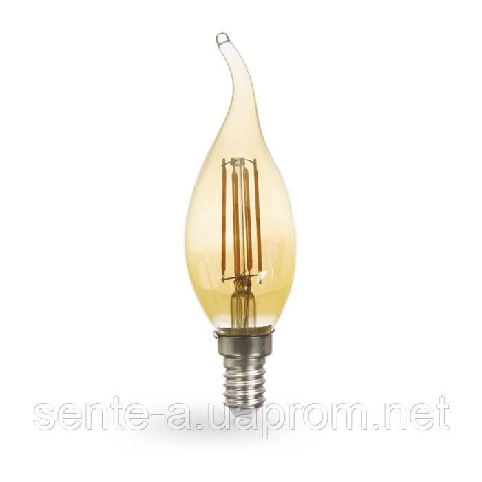 Светодиодная лампа Feron LB-159 золото 6W E14 2200K