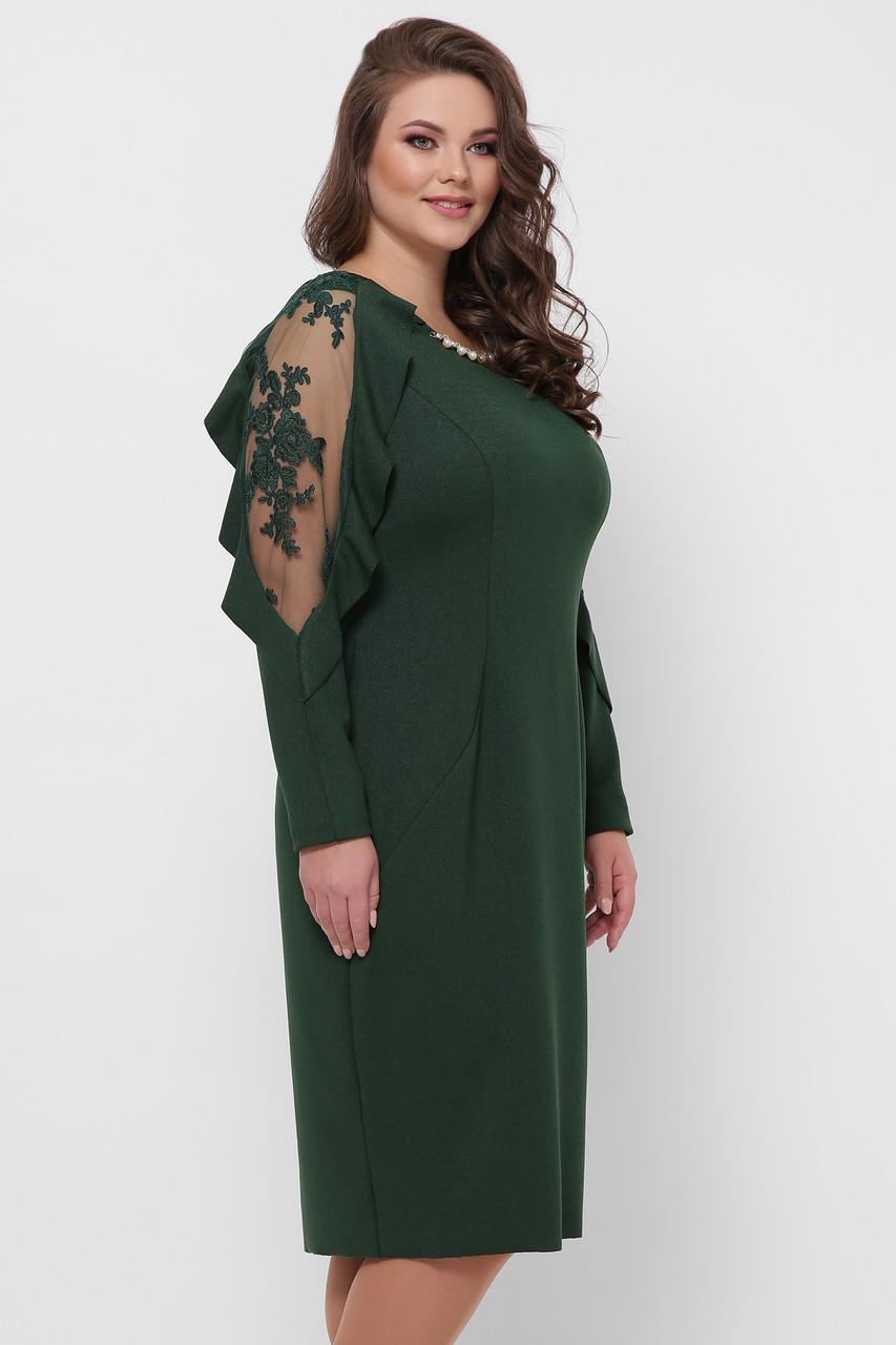 Вечірнє плаття зелене для повних Раміна