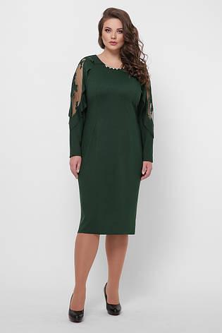 Вечірнє плаття зелене для повних Раміна, фото 2