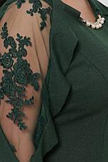Вечірнє плаття зелене для повних Раміна, фото 3