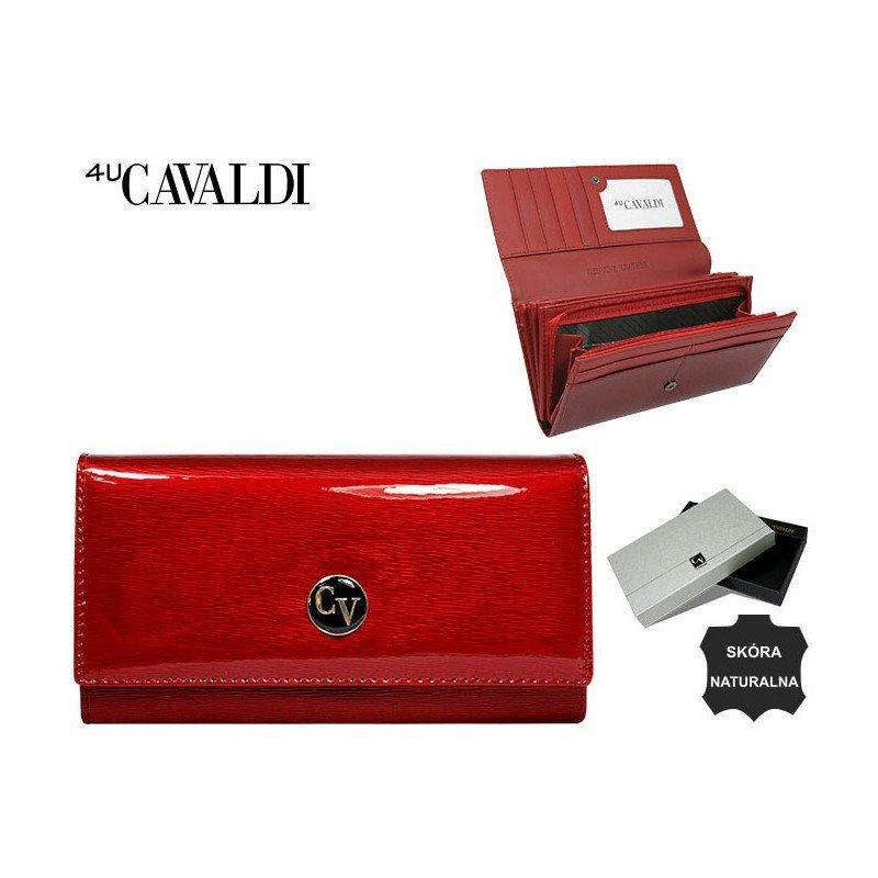 Гаманець жіночий Cavaldi натуральна шкіра лак Польща 3 кольори код 512 чорний,червоний,золотий