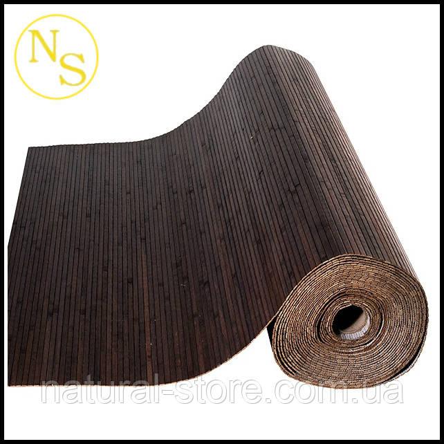 """Бамбуковые обои лак """"Венге"""" 150см - планка 17мм, TM """"Safari"""""""