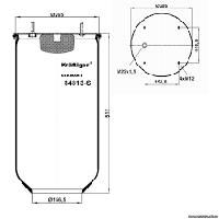 Пневморессора без стакана 813mb Meritor  Ror  Saf