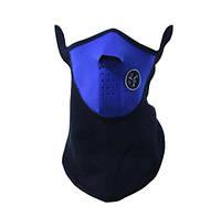Бафф флисовый с клапаном Синий с черным