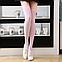 Яркие гетры разных расцветок гольфы выше колена веселые чулки розовые Код 09-01024, фото 2