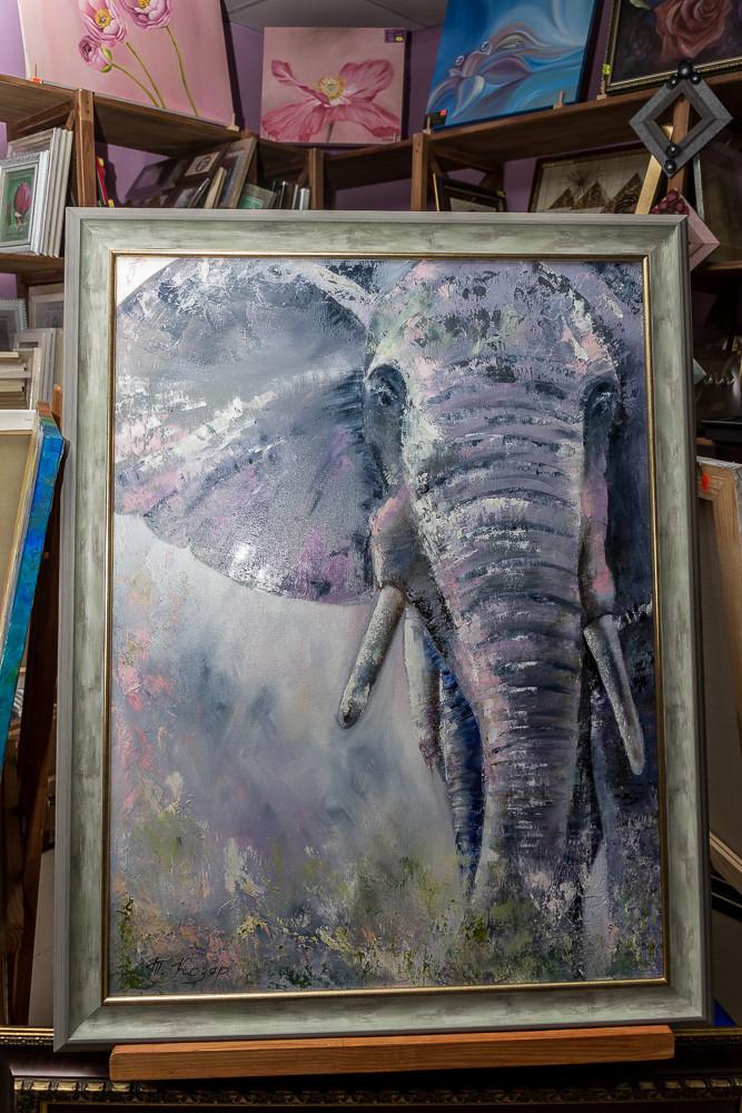 """""""Слон"""" холст 60х80 картина масло"""