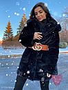 Женская теплая искусственная шуба из экомеха кролика на утеплителе 71sb80, фото 8