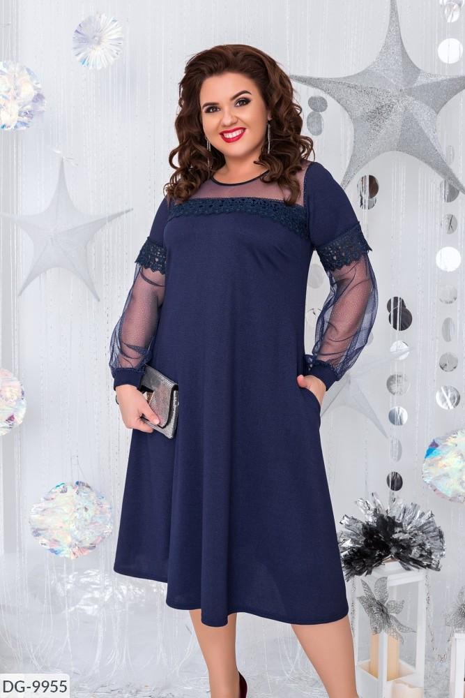 Стильное платье  (размеры 48-54) 0226-21