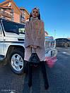 Женская искусственная шуба поперечная с воротником стойкой и длиной 105 см 71sb81, фото 6