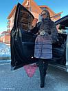 Женская искусственная шуба поперечная с воротником стойкой и длиной 105 см 71sb81, фото 5