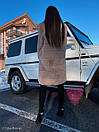 Женская искусственная шуба поперечная с воротником стойкой и длиной 105 см 71sb81, фото 7