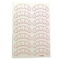 Виниловые наклейки с разметкойдля наращивания ресниц 5 листов