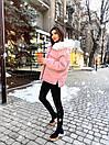 Женская зимняя парка с меховой опушкой на капюшоне и удлиненная сзади 71kr206, фото 9