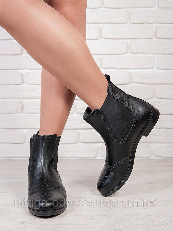 Ботинки Челси кожа 6708-28 на меху