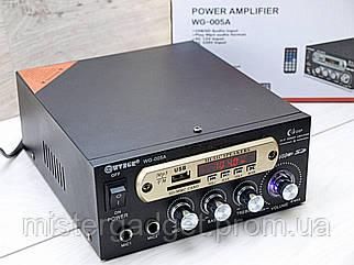 Підсилювач звуку WG-005A Два входи для мікрофона Wvngr