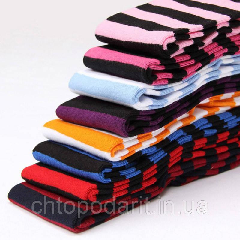 Яркие гетры разных расцветок гольфы выше колена веселые чулки Код 09-01046