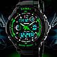 Мужские часы спортивного стиля подойдут к хайп шмоту Skmei S-Shock Green, фото 2